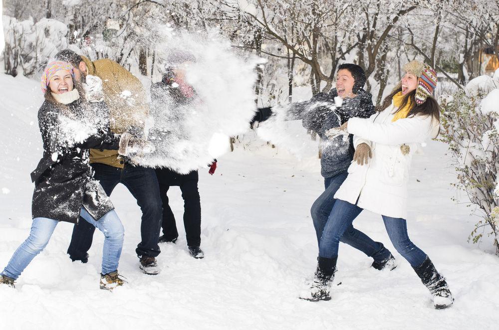 pelea bolas de nieve